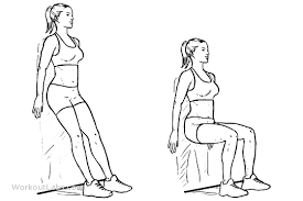 Illustration of the wall sit exercise