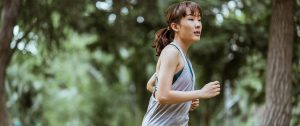 Girl Running to Improve Heart Health